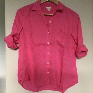 GAP Pink Longsleeve Linen Shirt